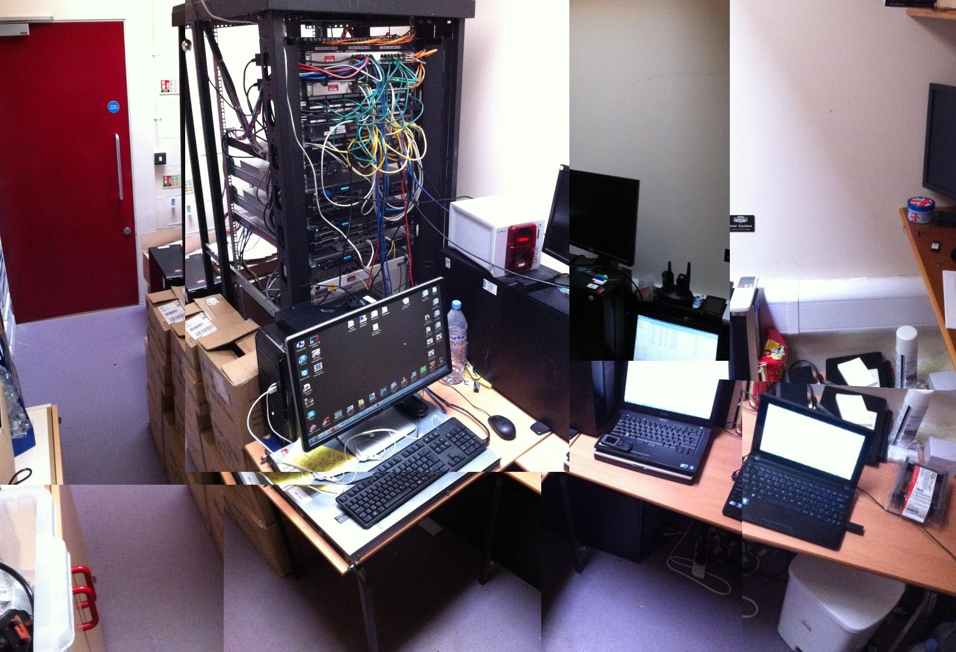 Primary school server rooms