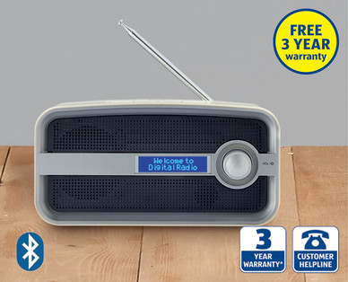 bluetooth dab radio at aldi 8th oct. Black Bedroom Furniture Sets. Home Design Ideas