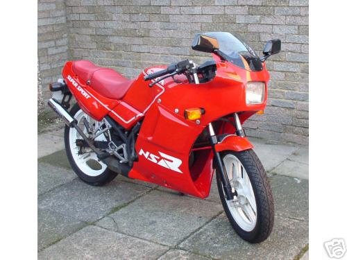My first bike - `89 NS125R - bought for �350 off eBay if memory serves!