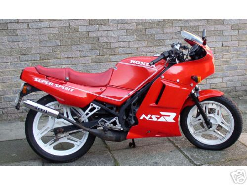 The NS125R from the side...