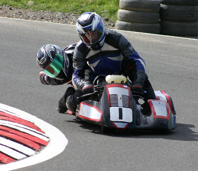 And when I'm not on two wheels I could usually be found on three - racing Minimoto Sidecars (custom made, CBR125 engine). 4T Class British Champion `05 & `06, F2 Class runner up `07, F2 Class British Champion `08  Retired from this now...