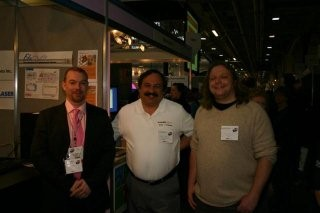 Tony and Chris with Arthe Lader (the happiest man in the world and a Moodle evangalist)