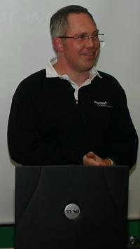 Microsoft's Nick Umney introducing Vista and Office 2007